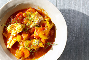 Vegetarian-Friendly Fish or Bean Stew