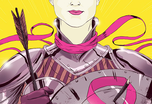 Female breast cancer warrior