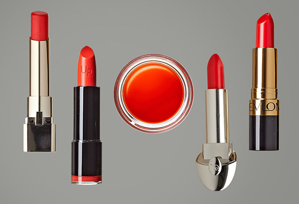 Tangerine lipsticks and lip balm