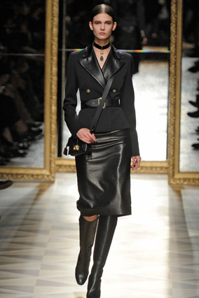 Salvatore Ferragamo military runway look