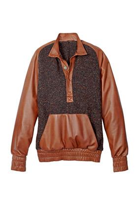 tweed pullover