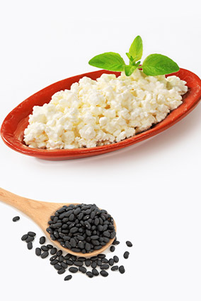 Cottage cheese and black beans