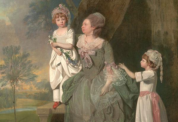 woman anc children