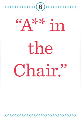 a** in the chair