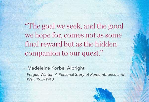 Madeline Albright memoir quote