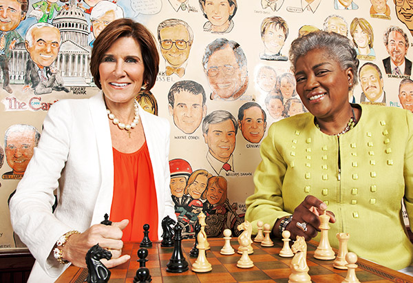mary matalin and donna brazile