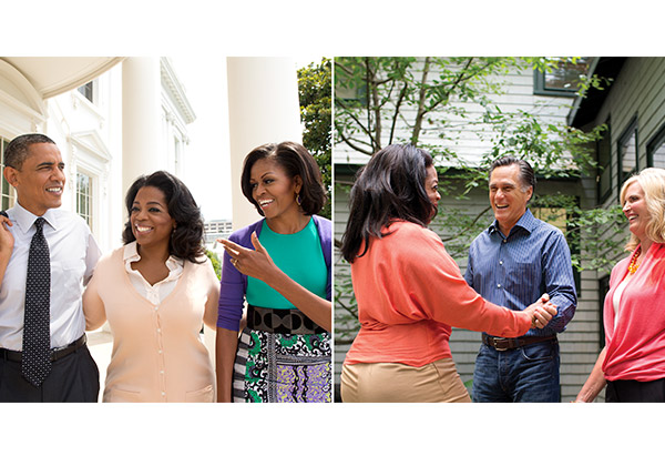 Oprah with the Romneys and Obamas