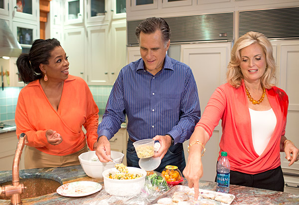 The Romneys in the kitchen