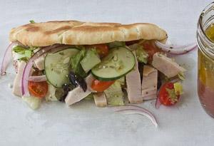 greek turkey pita