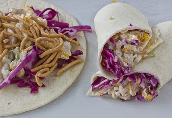 citrus turkey salad wrap