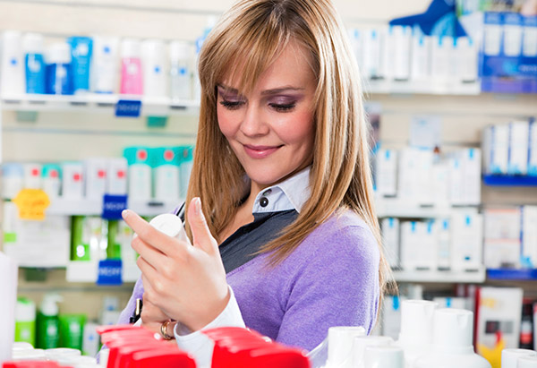 Woman at pharmacy