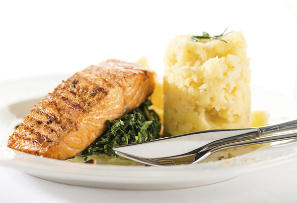 Lemon Salmon with Garlic Spinach