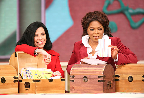 Rachael Ray and Oprah Winfrey