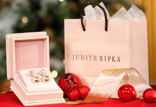 Judith Ripka yellow crystal earrings