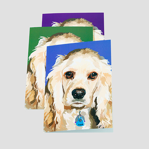 Wagging Tail Custom Portrait Cards