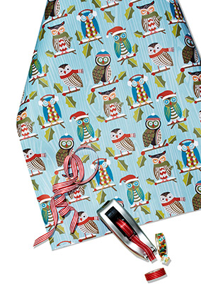 owl wrapping paper
