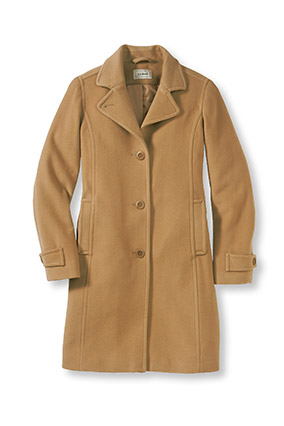L.L. Bean lamb's wool coat in Camel