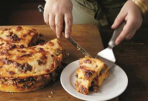 Baked Polenta Layered with Mushroom Ragu
