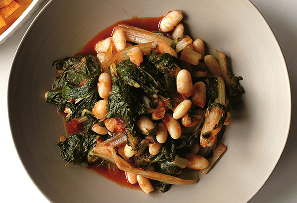 Braised Swiss Chard and Cannellini Beans