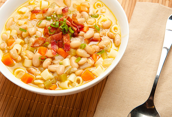 Bean and noodle soup