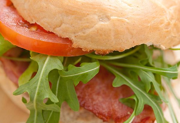 Mini BLT sandwich