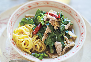 Broccoli Rabe with a Hint of Pork