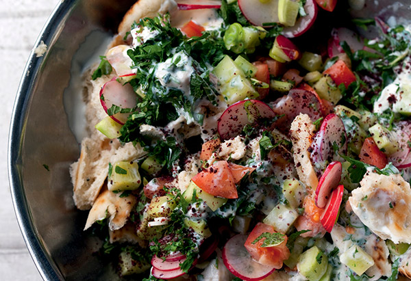 Easy international dinner recipes fattoush forumfinder Choice Image