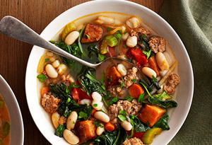 Kale Soup with Sausage