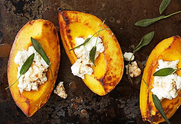acorn squash with ricotta and sage