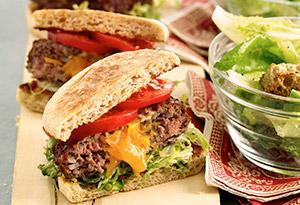 Cheddar-Stuffed Burgers