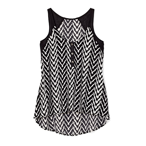 Chevron print tank top by Charming Charlie