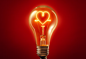 lightbulb heart