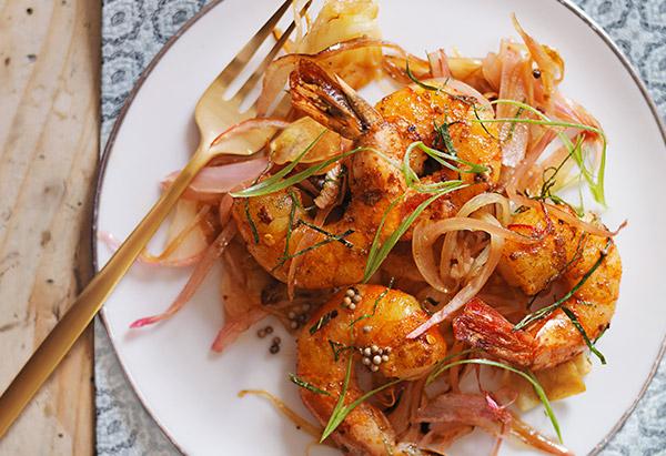 vadouvan curry shrimp