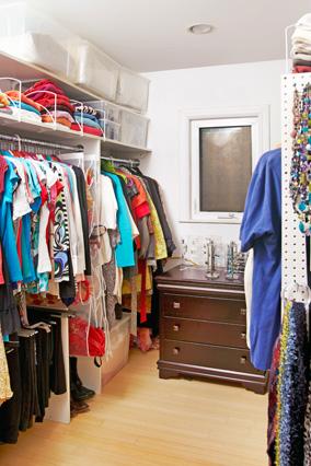 organizing closet