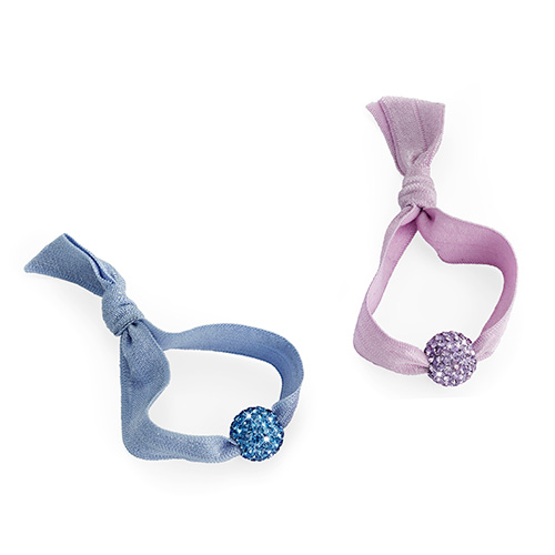 Crystal Bead Hair Ties