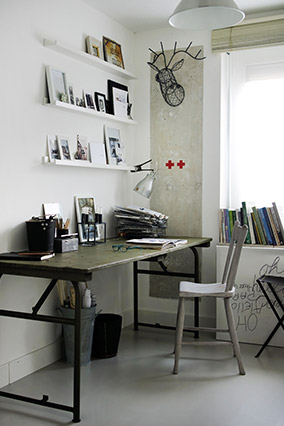 metal desk - How To Decorate Office Room