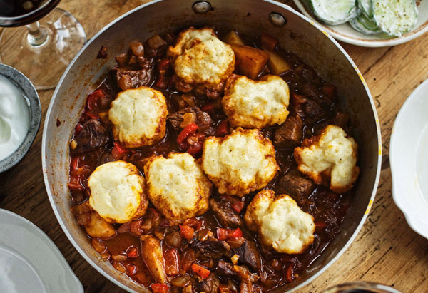 Goulash and dumplings