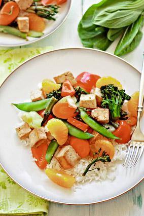 Mandarin Tofu Stir-Fry