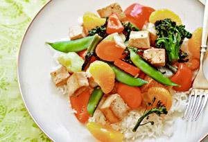 Mandarin Tofu Stir Fry