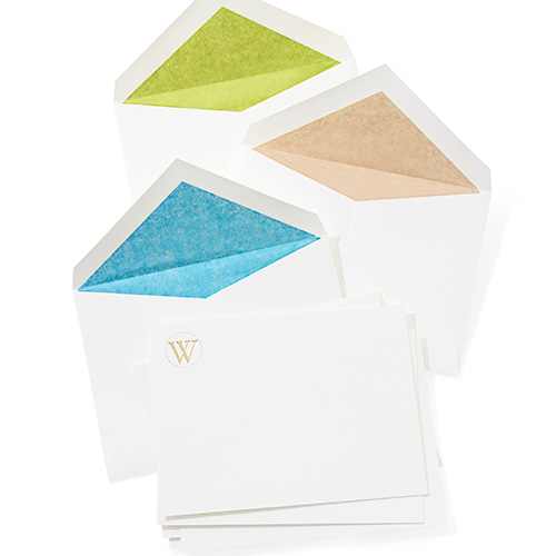 monogrammed stationary, cards and envelopes
