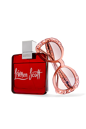 L'Wren Scott perfume and glasses