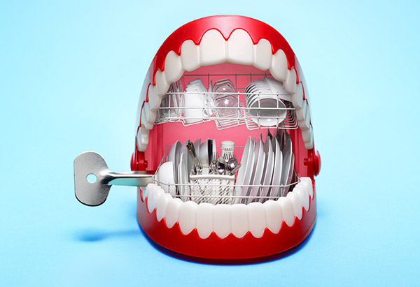 Mouth as a dishwasher