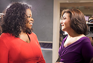 Oprah and Sheryl Sandberg