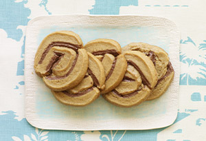 Peanut Butter Chocolate Whirligigs