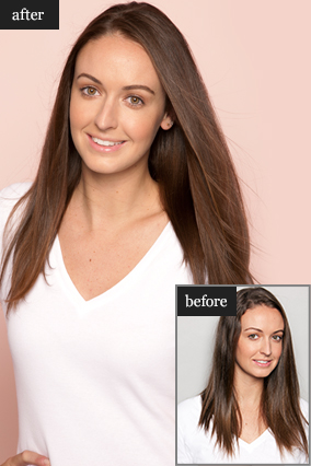 Kristina Lepore's hair makeover before and after