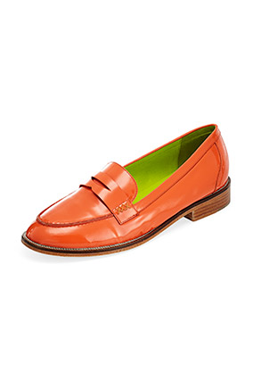 orange loafers