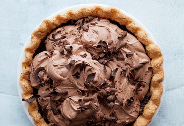 double chocolate cream pie