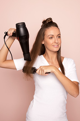 Straightening hair - step 3