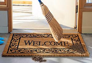 Sweeping doormat