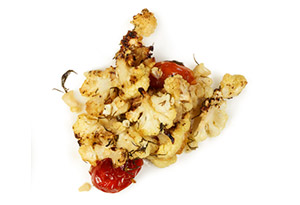 Crispy Cauliflower with Tomatoes and Dill